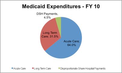 Medicaid Expenditures, FY 2010 (via KFF)